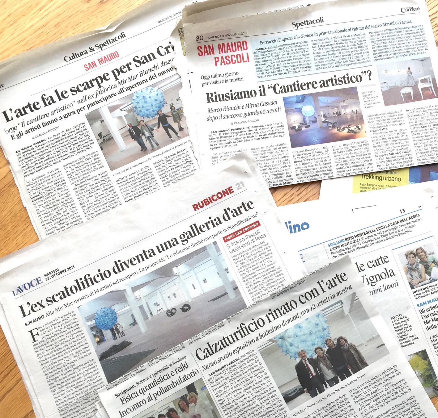 rassegna stampa articoli il cantiere artistico mirna casadei homestaging cesenatico